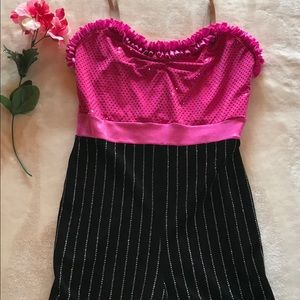 Women's A Wish Come True Pink Black Dance Outfit S